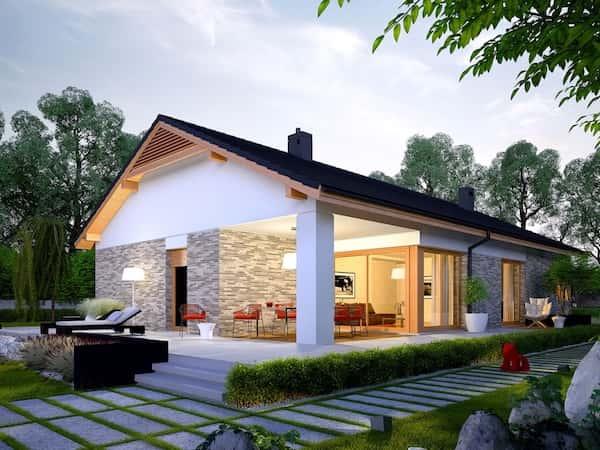 Biệt thự nhà vườn 1 tầng mái thái