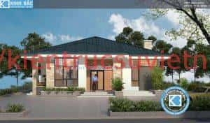 biet thu 1 tang dep 300x176 - Ảnh công trình thiết kế biệt thự 1 tầng đẹp