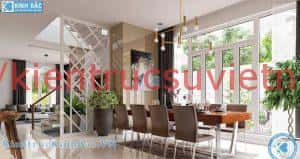 biet thu 3 tang dep phong khach an 300x159 - Thiết kế nội thất phòng ăn