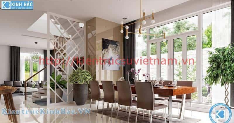 biet thu 3 tang dep phong khach an - Thiết kế nội thất phòng ăn