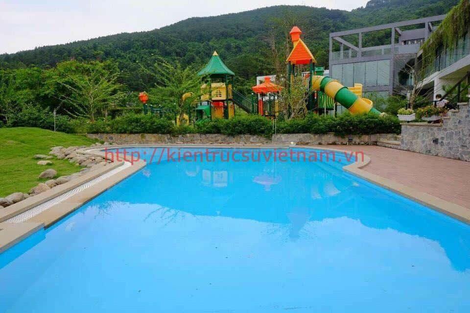 biet thu hien dai 3 tang 11 - Biệt thự 2 tầng mái dốc trên đồi có hồ bơi cực chất