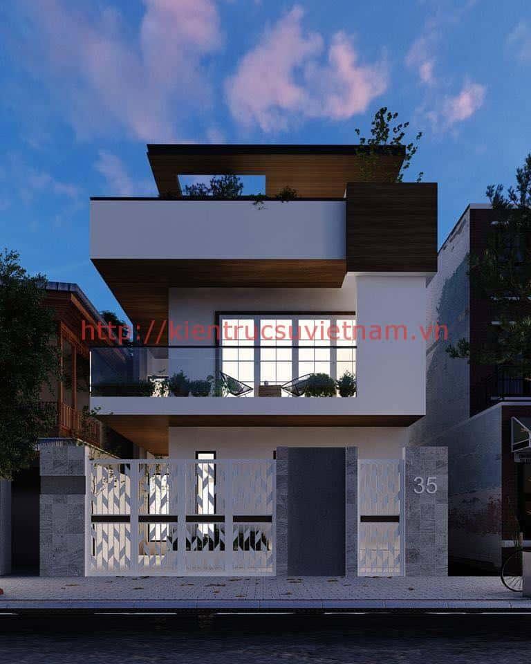 biet thu pho 2 tang dep - Biệt thự 2 tầng hiện đại với mặt tiền đẹp mê ly