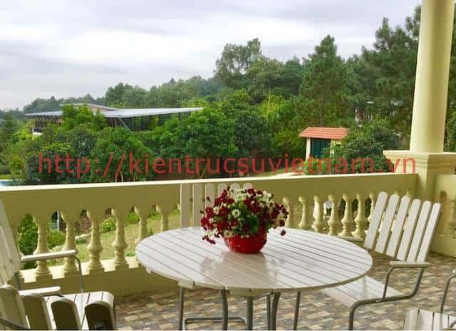 biet thu vuon dep 4 - Biệt thự sân vườn 2 tầng diện tích 200m2 đẹp