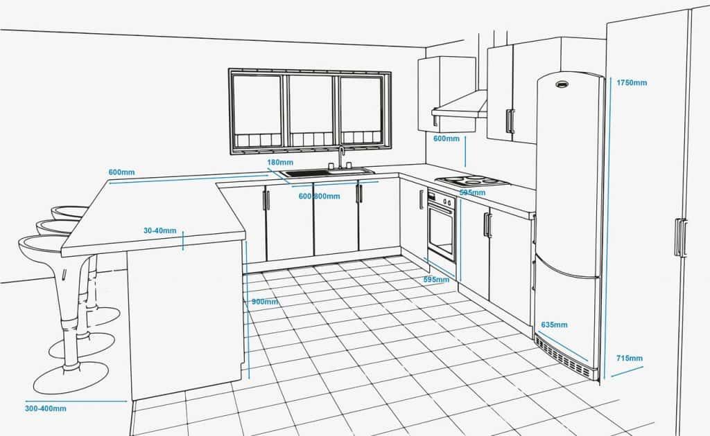 kich thuoc tu bep - Tủ bếp inox cho căn bếp hoàn hảo của bạn