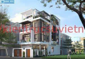 nha pho mat tien 7.5m 300x208 - Thiết kế nhà phố 4 tầng mặt tiền từ 7.5m đẹp hiện đại