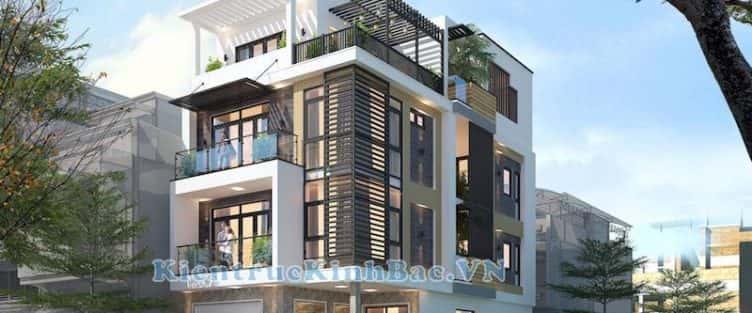 Thiết kế nhà phố 4 tầng mặt tiền từ 7.5m đẹp hiện đại