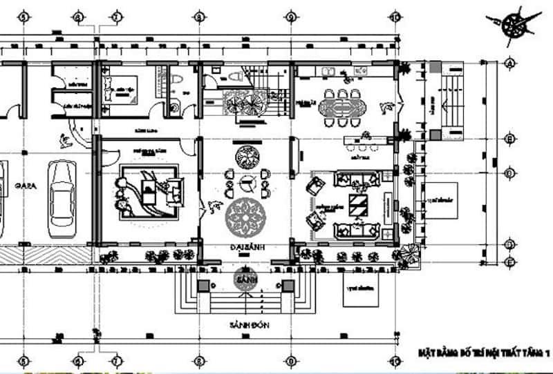 tang co dien 5 - Biệt thự tân cổ điển với diện tích 150m2 với kinh phí từ 2.2 tỷ có 5 phòng ngủ