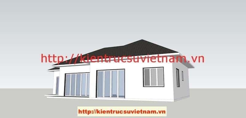 PA1 A1 - Công trình biệt thự 1 tầng với 3 phòng ngủ Mr Hoàng, Bình Dương