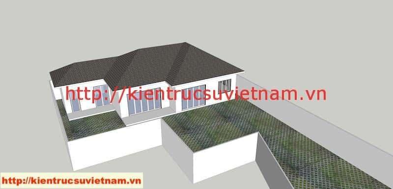 PA1 A4 - Công trình biệt thự 1 tầng với 3 phòng ngủ Mr Hoàng, Bình Dương