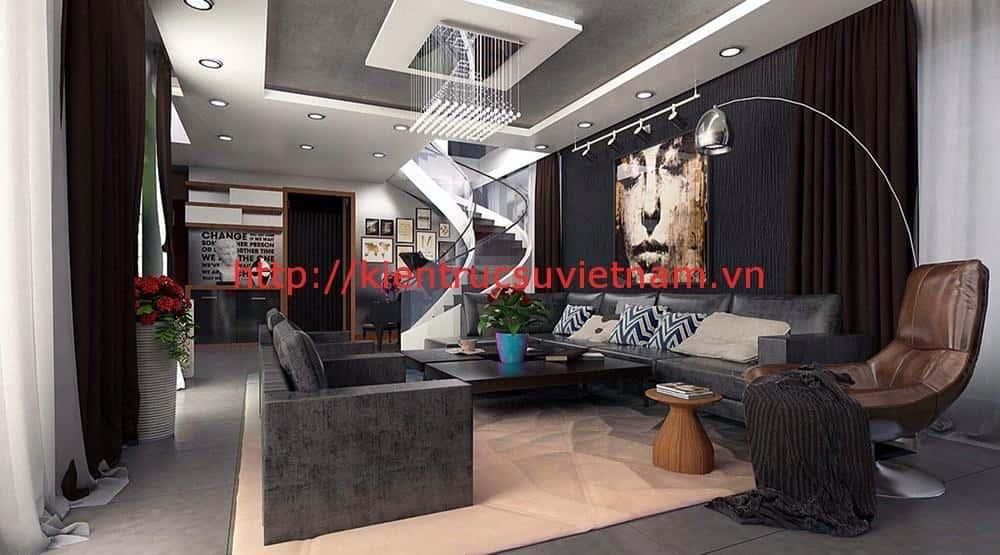 biet thu 3 tang hien dai quang binh 2 - Công trình biệt thự 3 tầng hiện đại anh Quyền Quảng Bình
