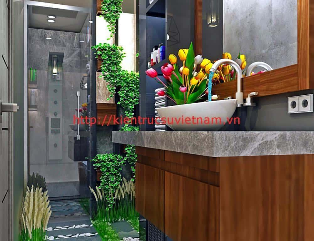 biet thu 3 tang hien dai quang binh 4 - Công trình biệt thự 3 tầng hiện đại anh Quyền Quảng Bình