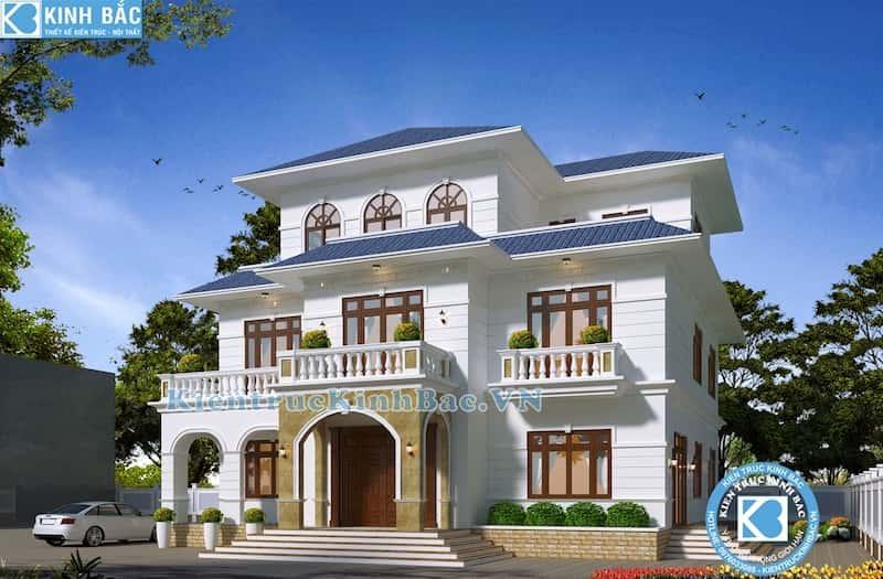 biet thu 3 tang tan co dien - Thiết kế biệt thự 3 tầng đẹp