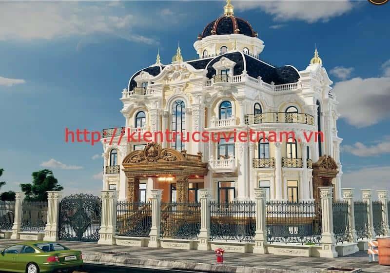 biet thu lau dai 3 tang dep - Thiết kế biệt thự cổ điển đẹp