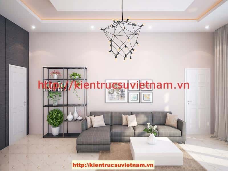 khach v1 - Công trình biệt thự 1 tầng với 3 phòng ngủ Mr Hoàng, Bình Dương