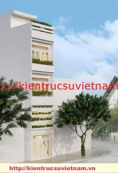kien truc nha ong 5 tang dep - Thiết kế nhà ống 5 tầng hiện đại gia đình anh Liễu