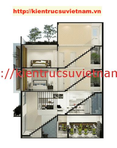 mat bang nha 5 tang - Công trình nhà ống 5 tầng hiện đại Mr Duy Thủ Đức