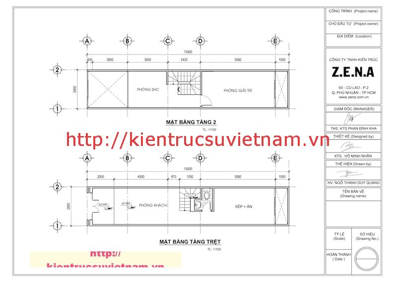 mat bang nha ong 5 tang - Thiết kế nhà ống 5 tầng hiện đại gia đình anh Liễu