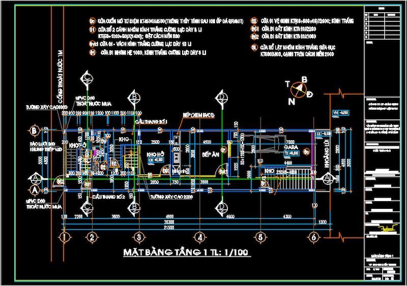 mat bang tang 1 toa nha vp - Thiết kế Trụ sở làm việc EIC tại Đà Nẵng