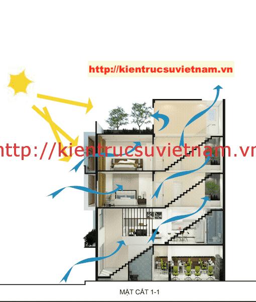 mat cat nha ong 5 tang dep - Công trình nhà ống 5 tầng hiện đại Mr Duy Thủ Đức
