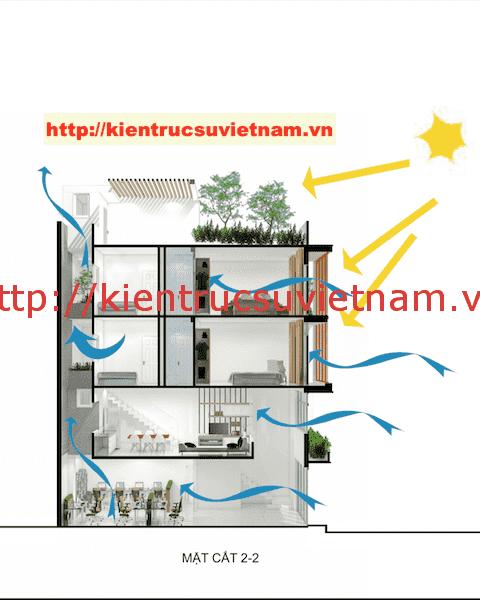 mat cat nha ong 5 tang - Công trình nhà ống 5 tầng hiện đại Mr Duy Thủ Đức