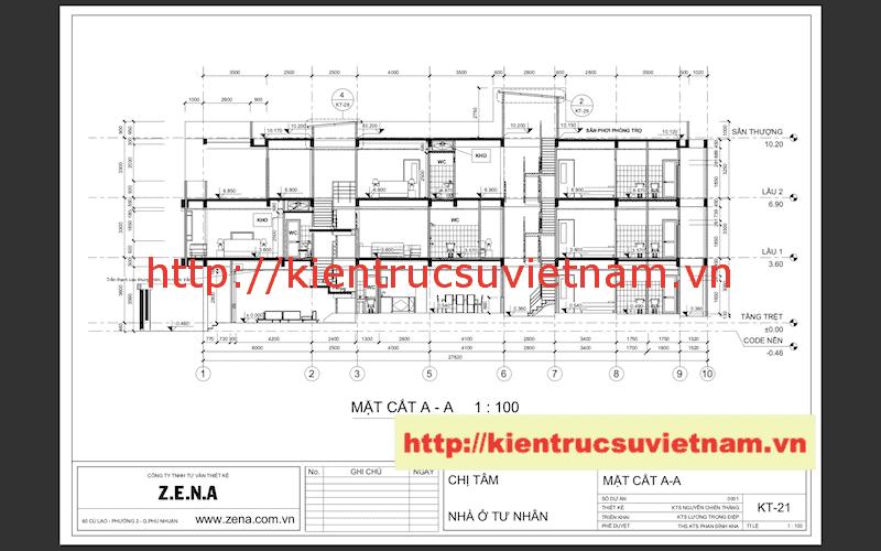 mat cat - Công trình nhà phố 3 tầng kiến trúc hiện đại chị Tâm quận 9