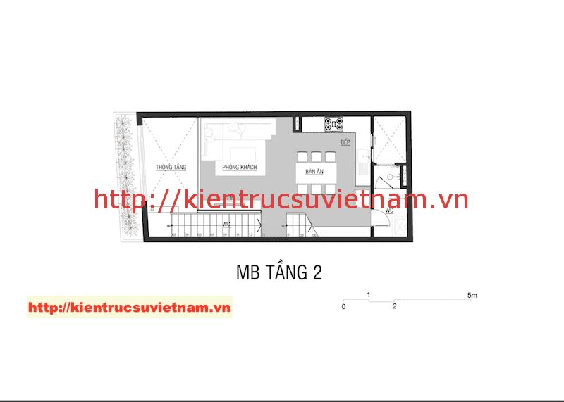 mat nag tang 2 nha 5 tang - Công trình nhà ống 5 tầng hiện đại Mr Duy Thủ Đức