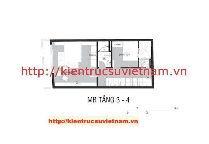 mat nag tang 34 nha 5 tang - Công trình nhà ống 5 tầng hiện đại Mr Duy Thủ Đức