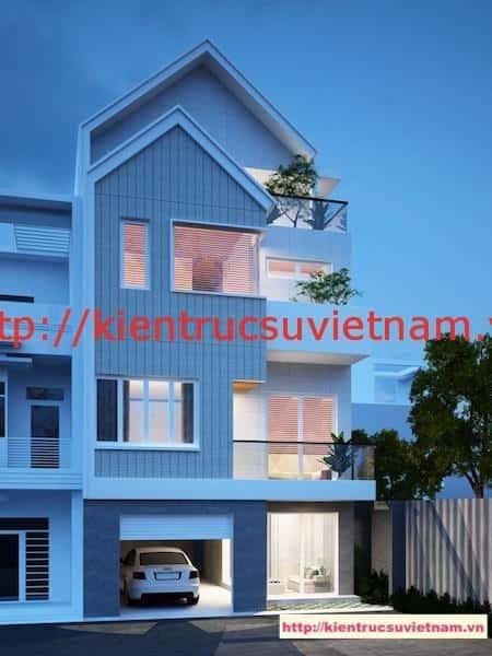 mau nha php dep 4 tang - Thiết kế nhà phố 4 tầng hiện đại gia đình anh Sơn chị Thuỷ