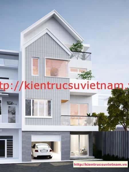 nha pho 4 tang dep - Thiết kế nhà phố 4 tầng hiện đại gia đình anh Sơn chị Thuỷ
