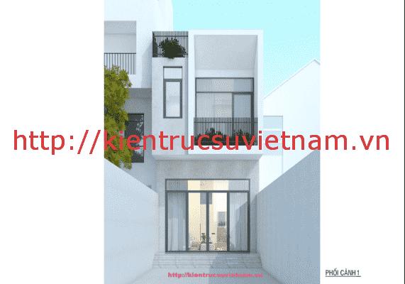 nha pho dep 2 tang 571x400 - Thiết kế nhà phố 2 tầng có sân thượng gia đình chị Phương Anh