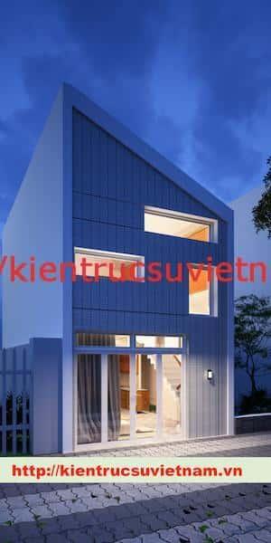 nha pho hien dai DEM - Dự án nhà phố 2 tầng chị Thu quận Phú Nhuận