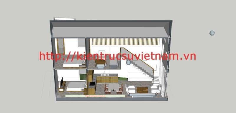 nha pho hien dai mc - Dự án nhà phố 2 tầng chị Thu quận Phú Nhuận