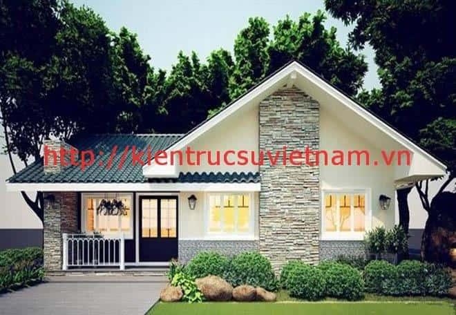 thiet ke biet thu vuon 100m2 1 - Thiết kế biệt thự vườn 100m2 đẹp với 3 phòng ngủ