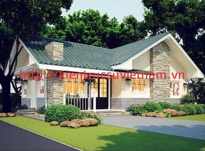 thiet ke biet thu vuon 100m2 2a - Thiết kế biệt thự vườn 100m2 đẹp với 3 phòng ngủ
