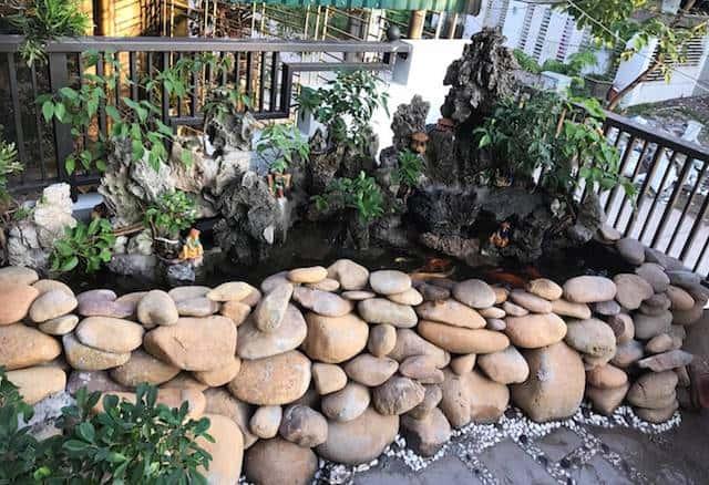 xay nha 4 tang 7 - Xây nhà 4 tầng dành riêng tầng 2 làm tiểu cảnh bonsai cực chất