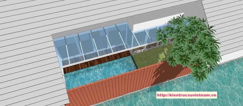111 - Thiết kế biệt thự 1 tầng 3 phòng ngủ đẹp gia đình chị Tuyết Bến Tre