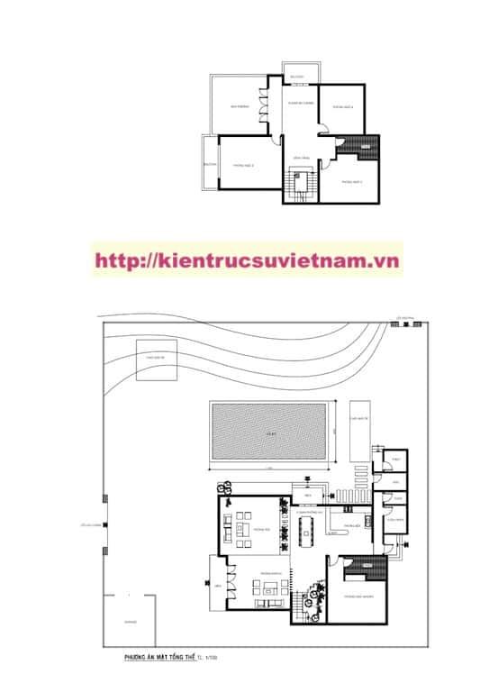 Mat Bang a lam Model - Kiến trúc biệt thự 2 tầng đẹp kiến trúc hiện đại gia đình chị Vy