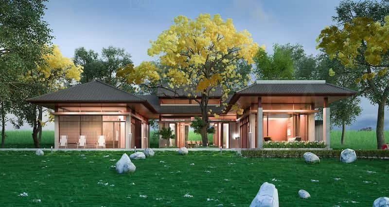 biet thu 1 tang 1 1 - Dự án biệt thự 1 tầng sân vườn đẹp với diện tích 250m2 đẹp
