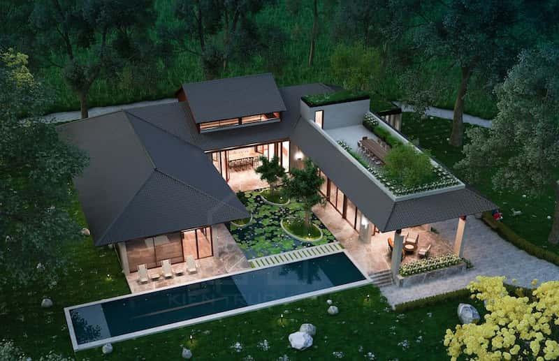 biet thu 1 tang 2 - Dự án biệt thự 1 tầng sân vườn đẹp với diện tích 250m2 đẹp