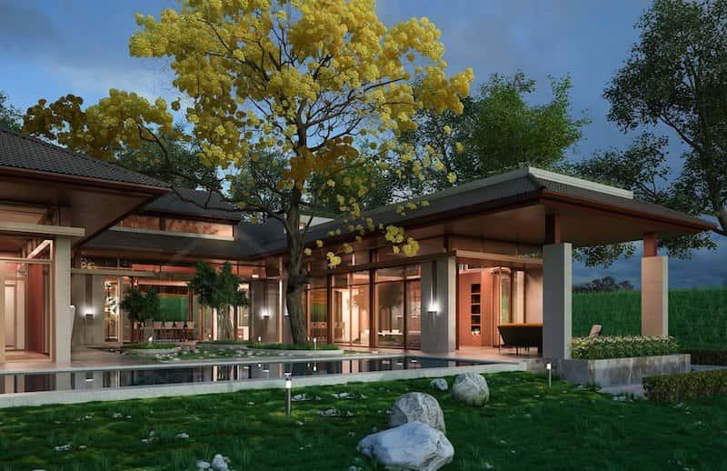 biet thu 1 tang 3 - Dự án biệt thự 1 tầng sân vườn đẹp với diện tích 250m2 đẹp