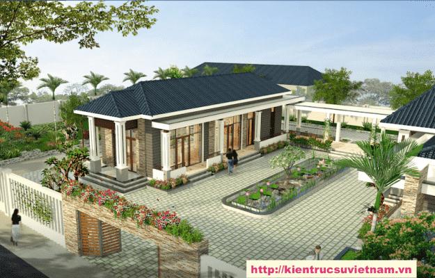biet thu 1 tang dep 2 625x400 - Ảnh công trình thiết kế biệt thự 1 tầng đẹp