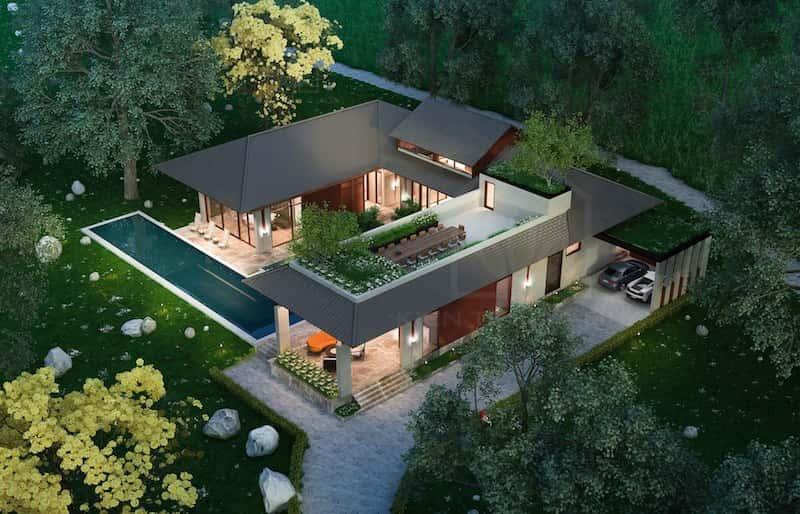 biet thu 1 tang dep - Dự án biệt thự 1 tầng sân vườn đẹp với diện tích 250m2 đẹp
