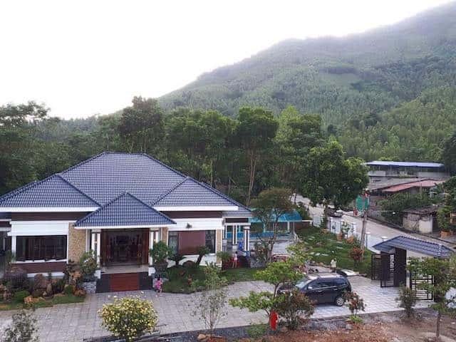 biet thu 1 tang mai thai - Công trình biệt thự 1 tầng sân vườn đẹp kiến trúc mái thái