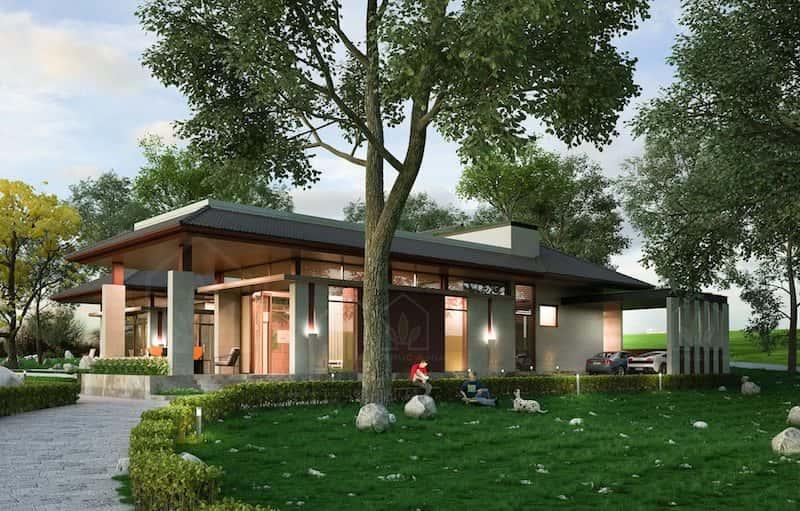 biet thu 1 tang - Dự án biệt thự 1 tầng sân vườn đẹp với diện tích 250m2 đẹp