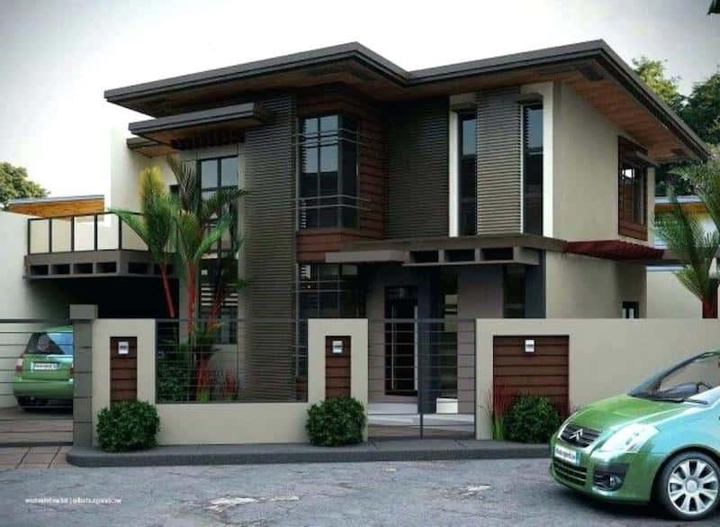 biet thu 2 tang 1 - Thiết kế nhà mái thái đẹp