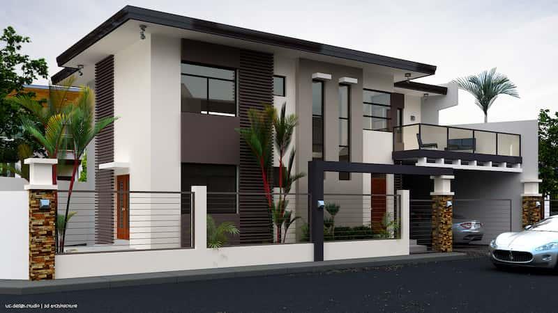 biet thu 2 tang dep 2 - Dự án thiết kế biệt thự 2 tầng mái thái đẹp 180m2