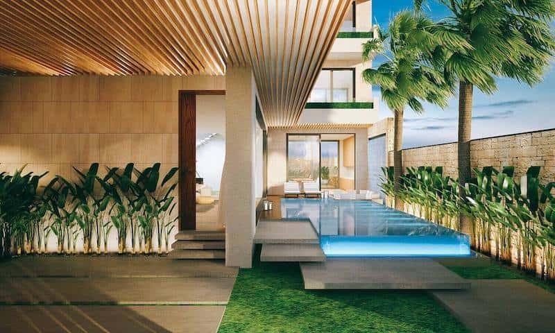 biet thu 3 tang hien dai 1 - Biệt thự 3 tầng với kiến trúc hiện đại có nhiều cây xanh