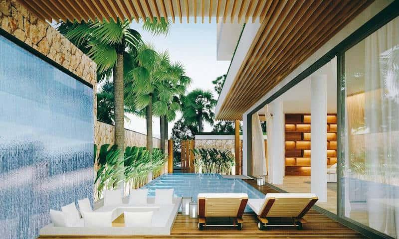biet thu 3 tang hien dai 2 - Biệt thự 3 tầng với kiến trúc hiện đại có nhiều cây xanh
