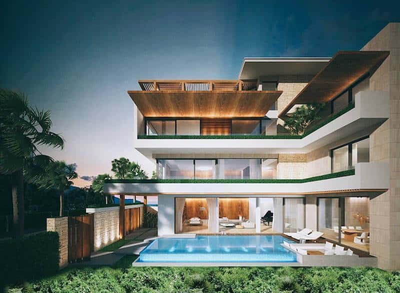 biet thu 3 tang hien dai 3 - Biệt thự 3 tầng với kiến trúc hiện đại có nhiều cây xanh
