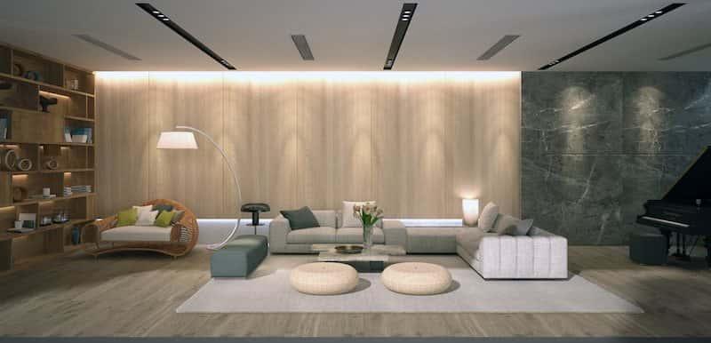 biet thu 3 tang hien dai 3a - Biệt thự 3 tầng với kiến trúc hiện đại có nhiều cây xanh